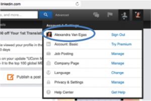Linkedin custom Url Account Settings