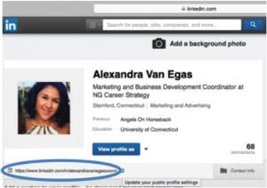 Linkedin custom url location