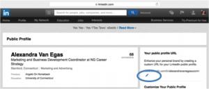 Linkedin profile custom url location in settings